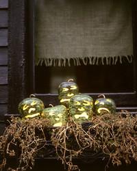 Apple Gourd Jack-o'-Lanterns