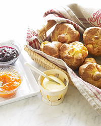Giant Cheese Popovers Recipe & Video | Martha Stewart