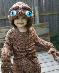 This Crocheted E.T. Costume Cost Less Than $10 to Make