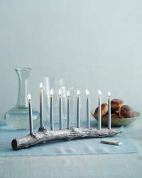 Hanukkah Candles and Menorahs
