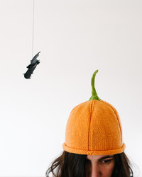 This Knit Pumpkin Hat is Cozy, Cute, and Perfect For Fall