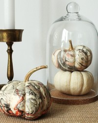 The Secret to These Pretty Marbleized Pumpkins? Nail Polish!