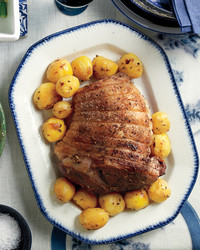 roasted lamb lemon rosemary potatoes