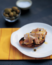 Bruschetta with Poached Tuna