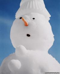 Baking-Pan Snowman