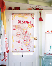 Map Textile Roller Shade