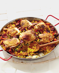 Chicken and Chorizon Paella