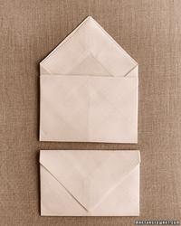 Napkin Folding: Envelope