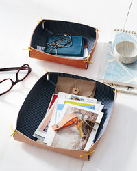 Fabric-and-Leather Catchall