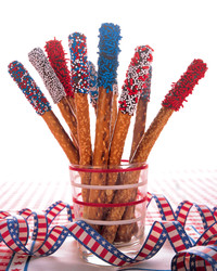 Fourth of July Pretzel Sparklers