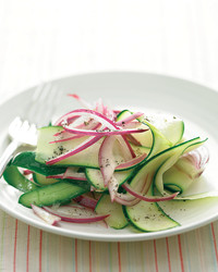 Zucchini salad with red onion
