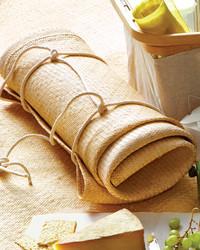 Easy Diy Picnic Blanket Carrier Martha Stewart