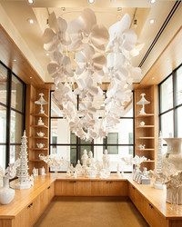This 7-Foot Chandelier Was Made Entirely of Paper Orchids