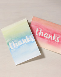 "Say ""Thank You"" With a Watercolor Card You Made Yourself"