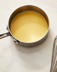 alfredo sauce pot whisk yellow