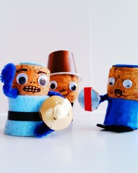New Year's Kids' Craft: Champagne Cork Soldiers