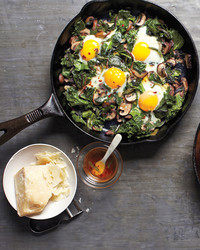 fried eggs skillet
