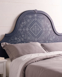 DIY: Batik-Pattern Stenciled Headboard