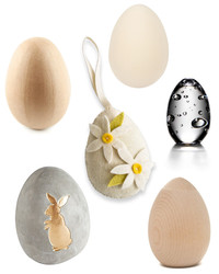 Six Easter Eggs Made from One-of-a-Kind Materials
