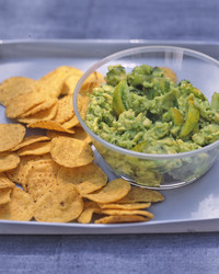 Rustic Guacamole with chips