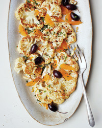roasted cauliflower and citrus dish