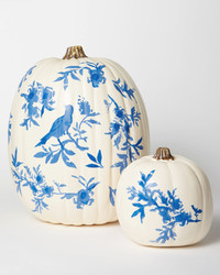 Chinoiserie Pumpkins: Use Our Trick to Paint Flowering Branches and Birds to Life
