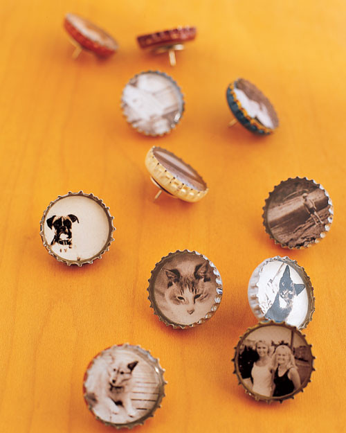 Bottle-Cap Magnets and Thumbtacks