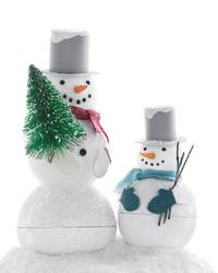 Sparkling Snowman Treat Boxes