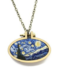 Wear Your Favorite Work of Art With One of These Embroidered Pendants