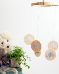 12 Months of Martha: A Whimsical Wooden Elephant Mobile