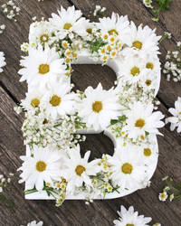 Try This DIY Idea: a Blooming Flower Letter