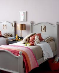 Monogram Twin Beds