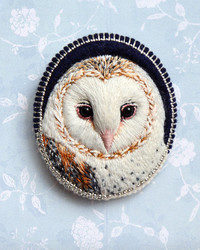 These Embroidered Birds are Brought to Life as Handmade Brooches
