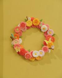 Clay Floral Wreath