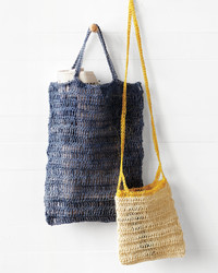 Crocheted Blue Summer Bag