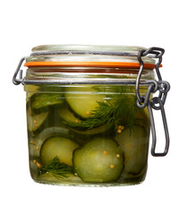 freezer pickles jar