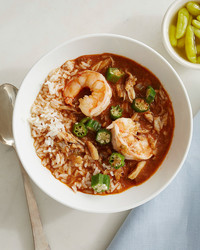 gumbo shrimp okra peppers