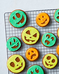 pumpkin face cookies