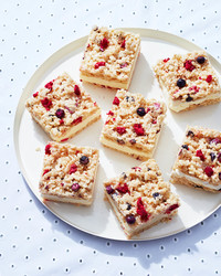 rice krispie treats with fruit
