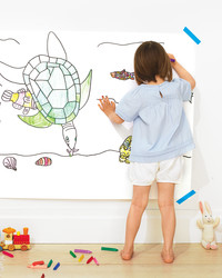 Rainy-Day Craft: Supersize Coloring Page