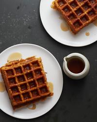 Vegan, Gluten-Free Pumpkin Waffles