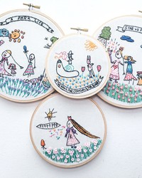 See How This Mom Embroiders Her Daughter's Adorable Art Drawings