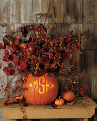 Monogram Pumpkin Vase