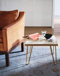 Brass and Marble Make a Perfect Match in This DIY Table