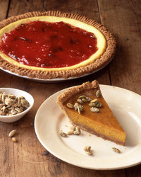 yogurt plum pie pumpkin pie slice