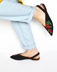 Put a Little Spring In Your Step With Rose-Embroidered Flats