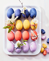 Dyed Wooden Eggs are Dipped into Dreamy Colors