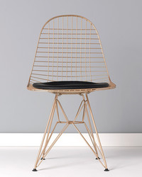Find Out How to Give Your Wire Chair a New Copper Shine