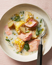 salmon-and-corn chowder