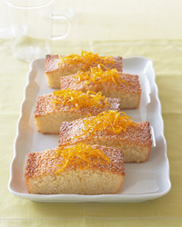 almond orange financier